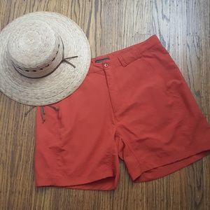 Royal Robbins Burnt Orange Nylon Shorts 12